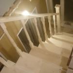 Одномаршевая деревянная лестница из сосны
