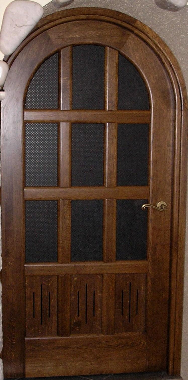 арочная дверь (ясень). стекло