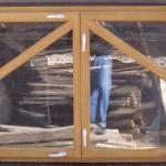 Балконная рама из дерева