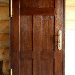 Дверь арочная из брашированного дуба