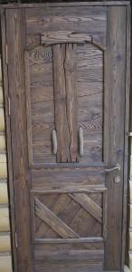 Дверной деревянный брашированный блок.
