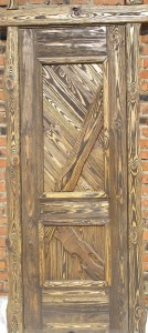 Деревянный дверной блок. Брашированное дерево.