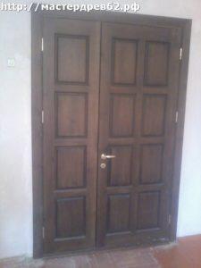 Деревянный полуторный дверной блок