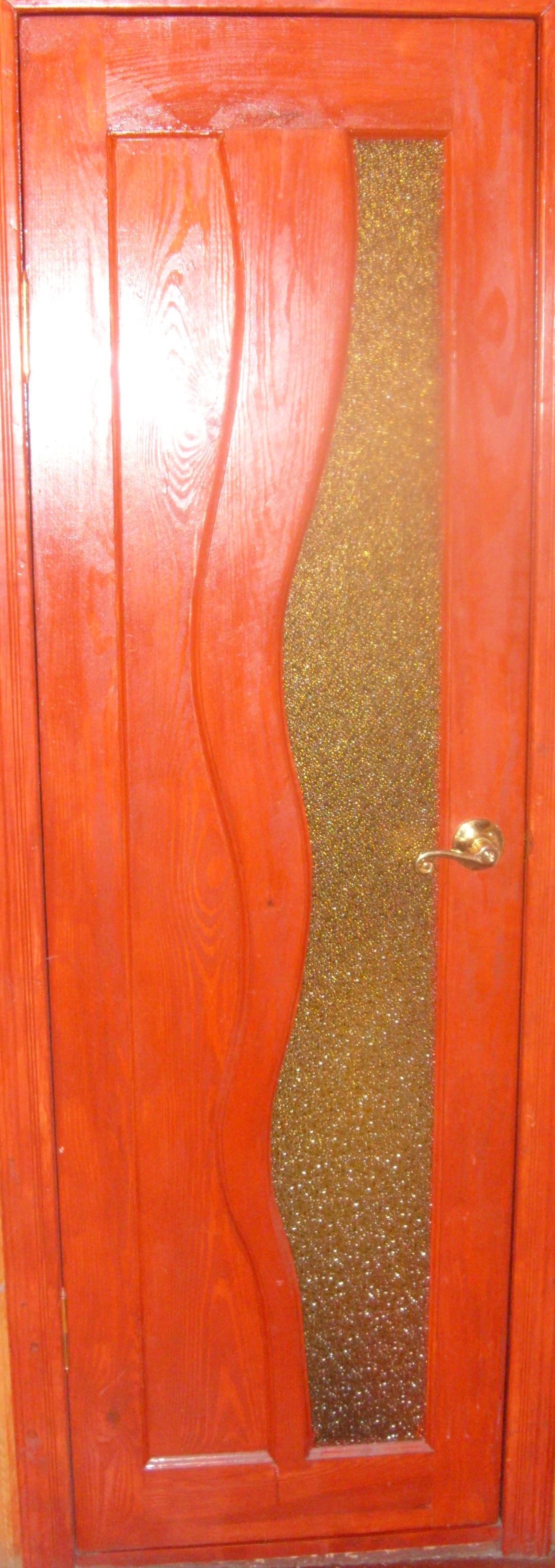 Дверь деревянная, модель № 11, с рифленым стеклом
