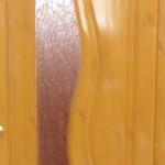 Дверь деревянная, модель № 12, с рифленым стеклом