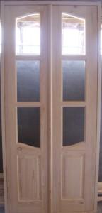 Дверь деревянная, модель № 3, двустворчатая, стекло