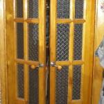 Дверь деревянная двойная, модель № 5, стекло