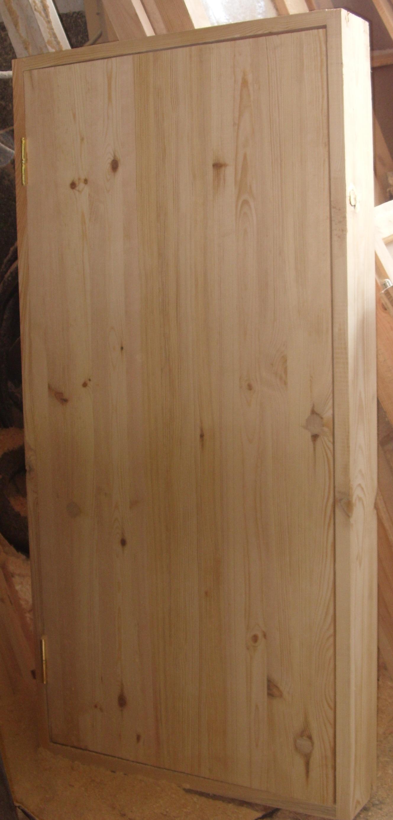 Дверной блок деревянный из осины, модель №7